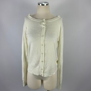 Forever 21 Off White Large Cardigan SOFT Pearl